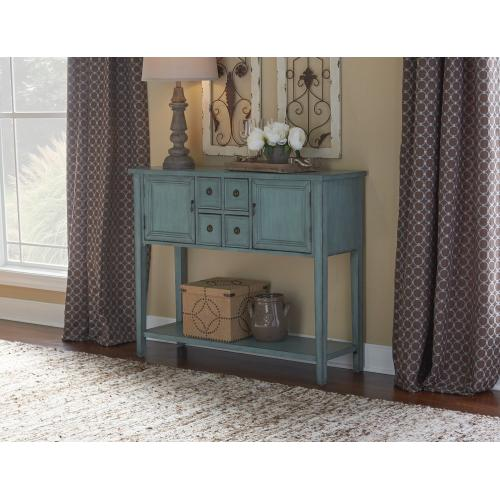 2-door and 3-drawer With 1-shelf Console Table, Blue
