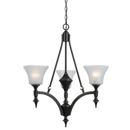 3 Lights Rockwood Iron Chandelier