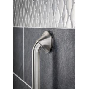 "Eva brushed nickel 12"" designer grab bar"