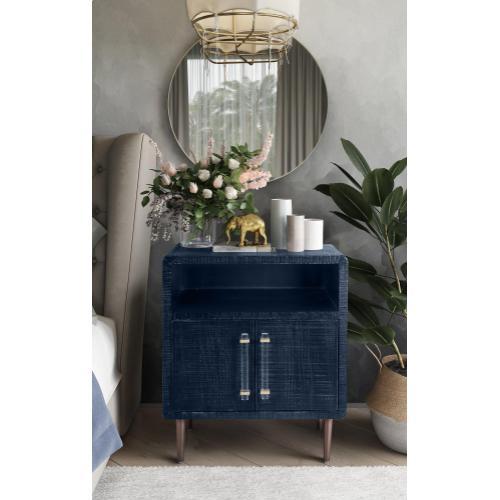 Tov Furniture - Marco Lacquer Indigo Side Table