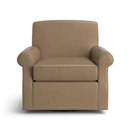 Bassett Furniture - Brevard Leather Swivel Chair