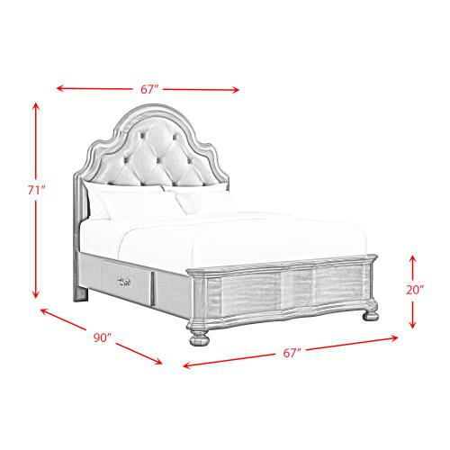 Product Image - Avery Queen 2-Drawer Platform Storage Bed