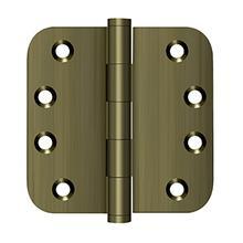 "View Product - 4"" x 4"" x 5/8"" Radius Hinges - Antique Brass"