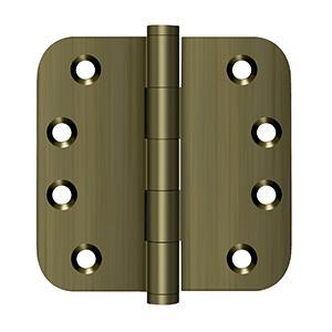 """4"""" x 4"""" x 5/8"""" Radius Hinges - Antique Brass"""