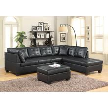 BLACK SECTIONAL CHAISE