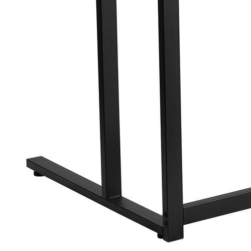 Flash Furniture - Glass Desk with Black Pedestal Metal Frame