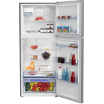 """Beko 28"""" Freezer Top Stainless Steel Refrigerator with Auto Ice Maker"""
