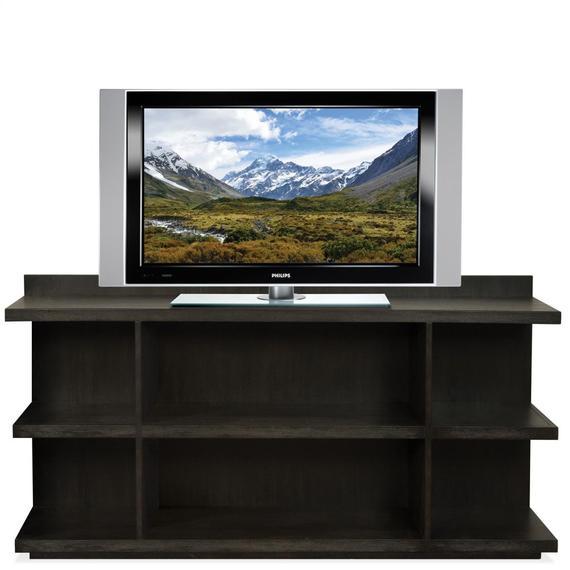 Riverside - Perspectives - Peninsula Bookcase - Ebonized Acacia Finish