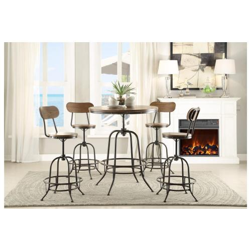 Round Counter Height Table, Adjustable Height
