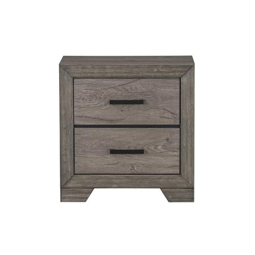 Fairhope 2-Drawer Nightstand, Grey