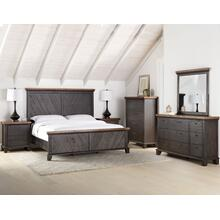 Bear Creek Brown 4-Piece King Set (King Bed/NS/Dresser/Mir)