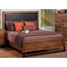 """See Details - Cumberland Queen Bed With Fabric Headboard & 22"""" Low Footboard"""