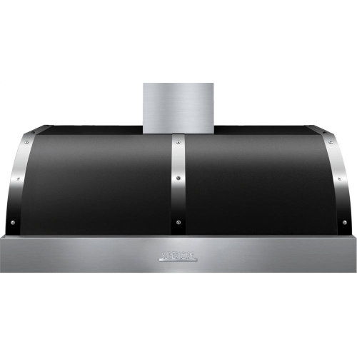 Hood DECO 48'' Black matte, Chrome 1 blower, electronic buttons control, baffle filters