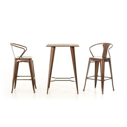 Modrest Benz Modern Copper & Wood Bar Table