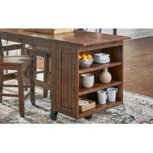 Aberdeen Rustic Timber Open Shelf Unit