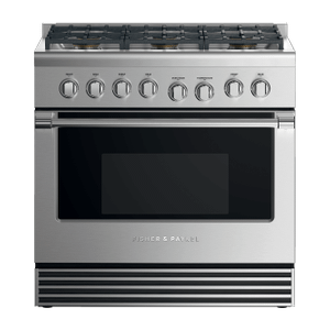 "Fisher & PaykelGas Range, 36"", 6 Burners"