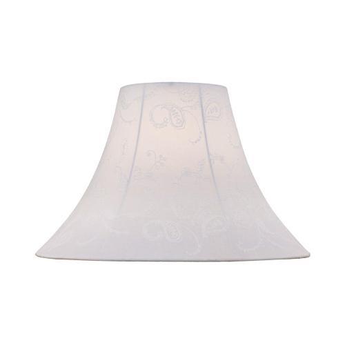 "White Jacquard Bell Shade - 6""tx16""bx12""sl"