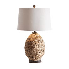 Natural Cross Woven Table Lamp. 150W Max. 3 Way Switch.