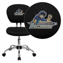 Massachusetts Maritime Academy Buccaneers Embroidered Black Mesh Task Chair with Chrome Base