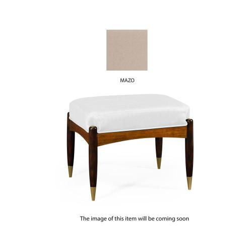 Contemporary stool upholstered in Mazo