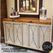 Hammer Copper Buffet Cabinet