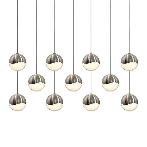 Grapes® 11-Light Rectangle Medium LED Pendant