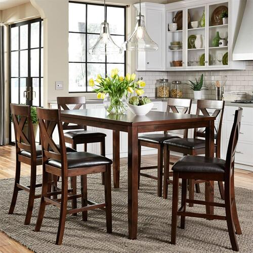 7 Piece Gathering Pub Table Set    (164-CD-7GTS)