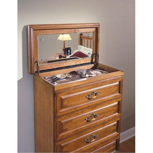 Honey Creek 6/6 EK Poster Bed - 2 Drwr Night Stand