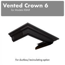 View Product - ZLINE Vented Crown Molding Profile 6 for Wall Mount Range Hood (CM6V-KBAR)