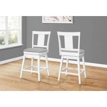 """See Details - BARSTOOL - 2PCS / 39""""H / WHITE / SWIVEL COUNTER HEIGHT"""