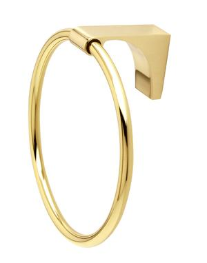Luna Towel Ring A6840 - Unlacquered Brass Product Image