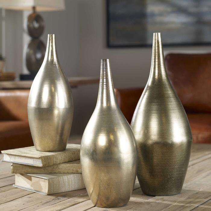 Uttermost - Rajata Vases, S/3