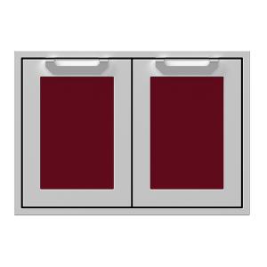 """30"""" Hestan Outdoor Double Storage Doors - AGSD Series - Tin-roof"""