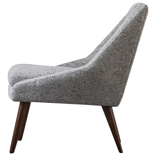 Enzo KD Fabric Accent Chair, Drizzle Gray