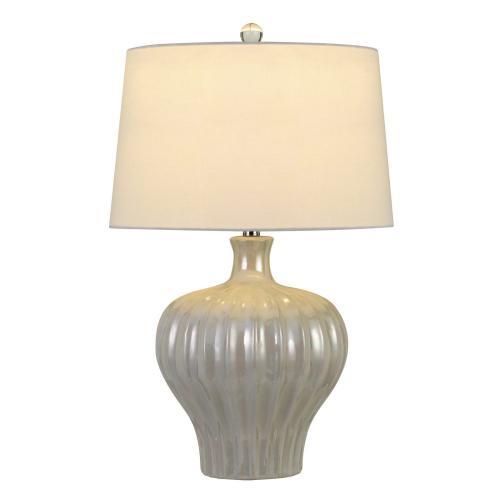 Cal Lighting & Accessories - Afragola Ceramic Table Lamp With Hardback Fabric Shade