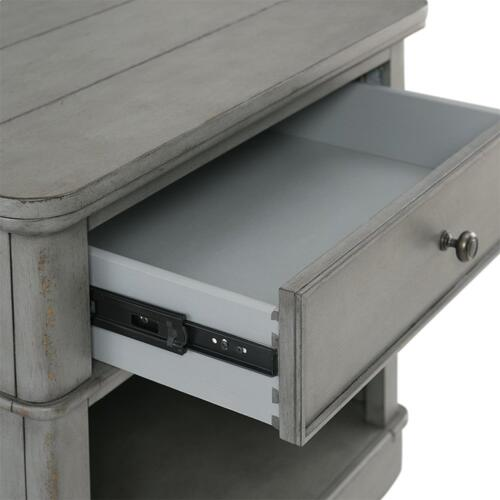Bella Grigio - One Drawer Nightstand - Chipped Gray Finish