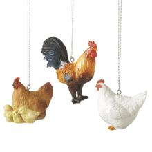 Chicken Ornaments (3 asstd)