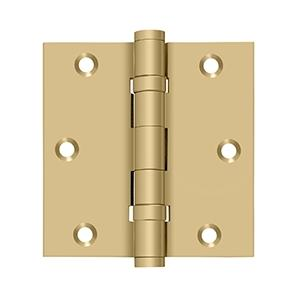 "Deltana - 3-1/2"" x 3-1/2"" Square Hinge, Ball Bearings - Brushed Brass"