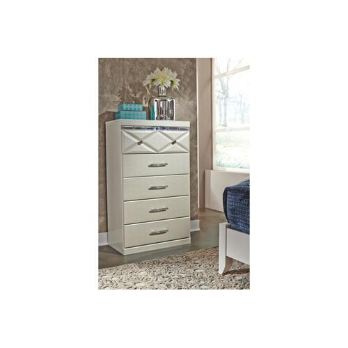 Dreamur Five Drawer Chest Champagne