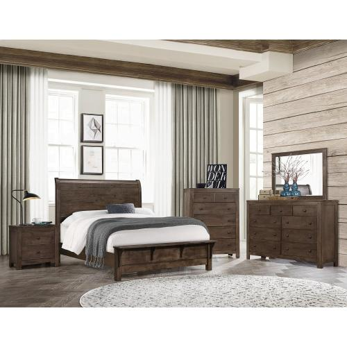 Emerald Home Complete Sleigh King Bed-classic Gray Finish B372-12-k