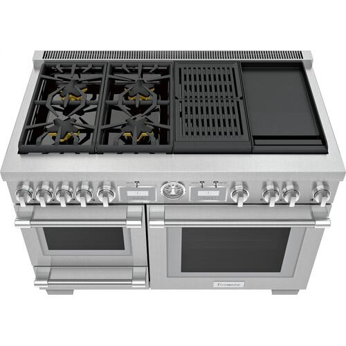 Dual Fuel Professional Range 48'' Pro Grand® Commercial Depth PRD48WCSGU