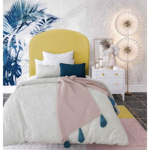 Product Image - Vivi Burnt Gold Velvet Bed in Twin