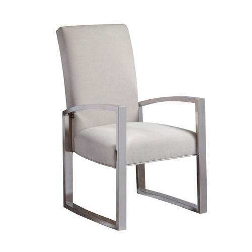Cydney Contemporary Metal Arm Chair, Pack of Two