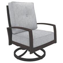 Castle Island Swivel Lounge Chair Dark Brown/Grey
