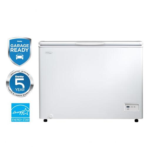 10.8 cu ft white chest freezer