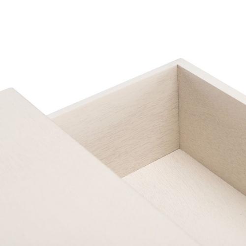 Safavieh - Ajana 2 Drawer Console - Distressed White W/ Distressed White Drawer