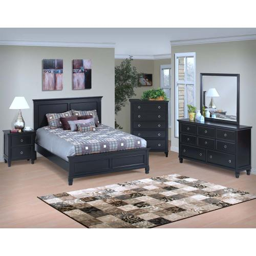 Tamarack Black Queen Bed
