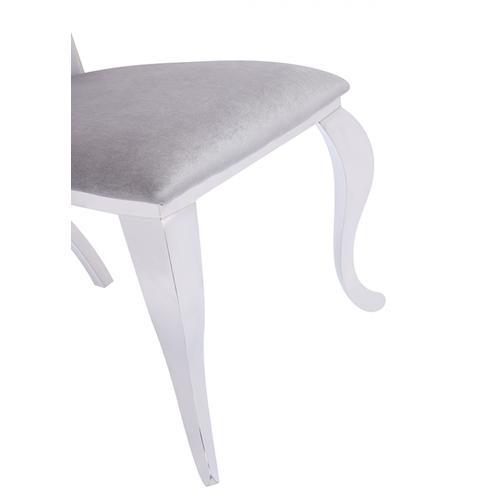Modrest Bonnie Modern Grey Velvet & Stainless Steel Dining Chair (Set of 2)