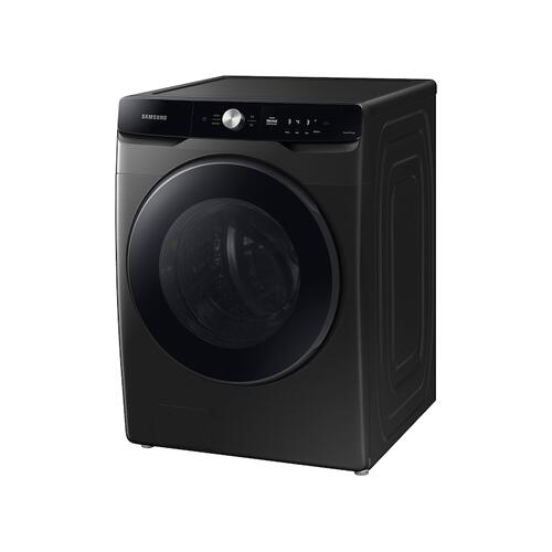 Samsung - 4.5 cu. ft. Large Capacity Smart Dial Front Load Washer with Super Speed Wash in Brushed Black