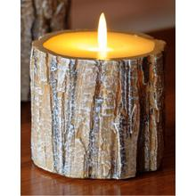"3"" Tree Bark LED Candle"